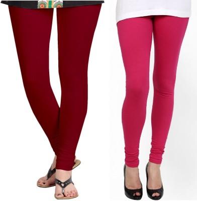 ZACHARIAS Women's Maroon, Pink Leggings