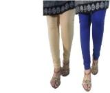 LatestQ Women's Beige, Blue Leggings (Pa...