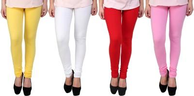 Legemat Girl,s Yellow, White, Red, Pink Leggings