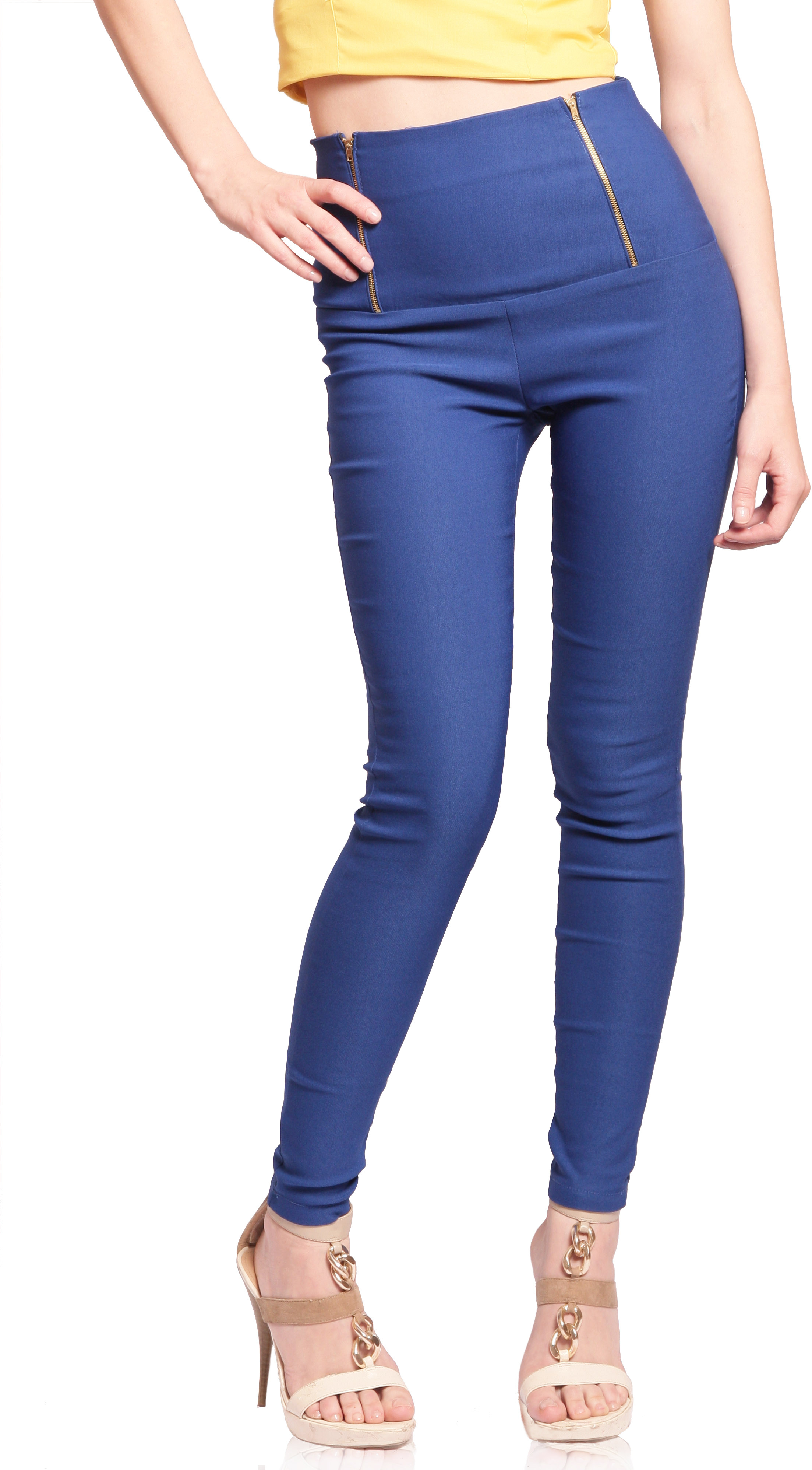 Miss Chase Womens Blue Jeggings