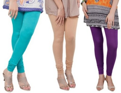 Prekrasna Women,s Light Blue, Gold, Purple Leggings