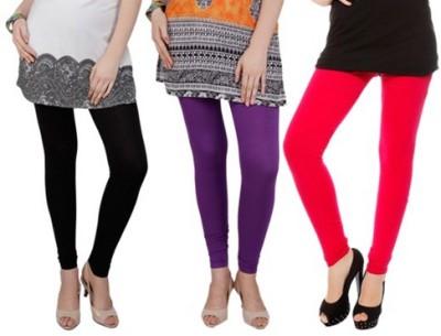 Prekrasna Women,s Black, Purple, Red Leggings