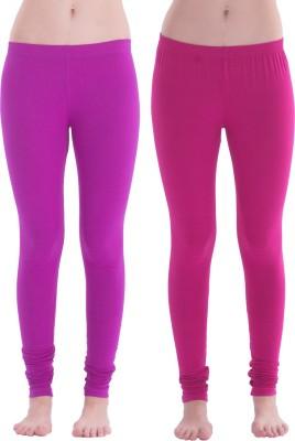 Spictex Girl's Purple, Pink Leggings