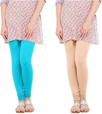 Oh Fish Women's Light Blue, Beige Leggings