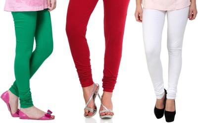 Lienz Women's Green, Red, White Leggings
