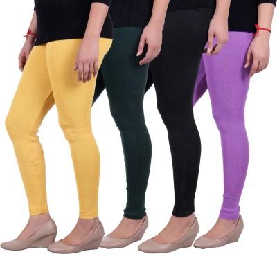 Sellsy Women's Yellow, Green, Black, Purple Leggings