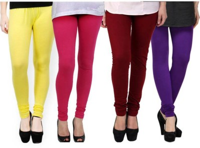 Fashion Zilla Women's White, Pink, Maroon, Purple Leggings