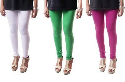amie Women's White, Purple, Green Leggings