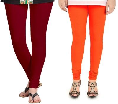 ZACHARIAS Women's Maroon, Orange Leggings