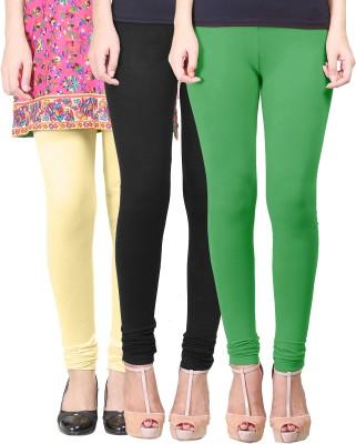 Eshelle Women's Black, Light Green, Yellow Leggings