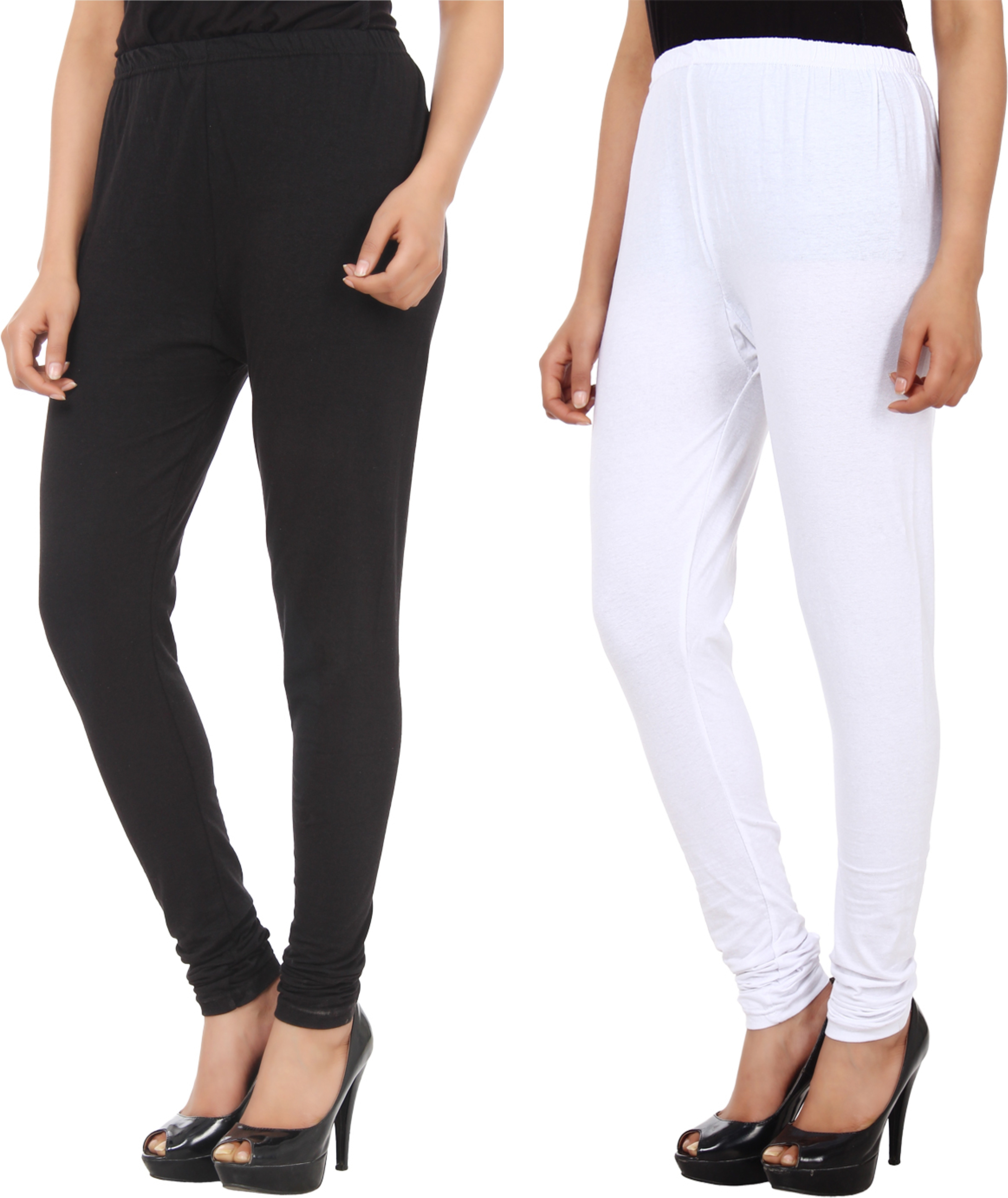 Xpos� Womens Black, White Leggings(Pack of 2)