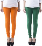 Prashil Women's Orange, Green Leggings (...