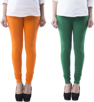 Prashil Women's Orange, Green Leggings