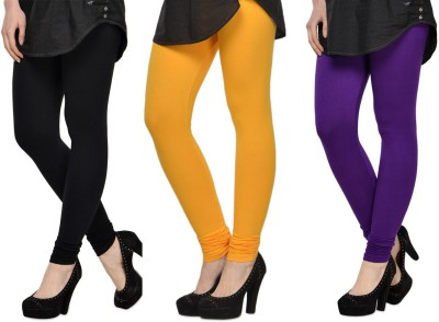 SareeGalaxy Women's Black, Yellow, Purple Leggings