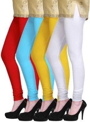 Lasunj Women's Red, Blue, White, Yellow Leggings