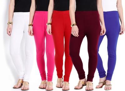 Ten on Ten Women's Pink, Maroon, Red, White, Blue Leggings