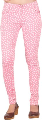 Inddus Women's Pink Jeggings