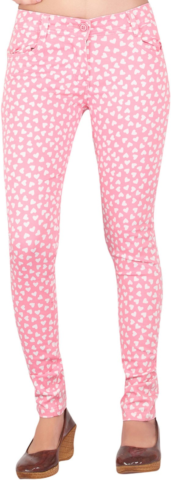 Inddus Womens Pink Jeggings