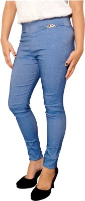 Parv Collections Women,s Blue Jeggings