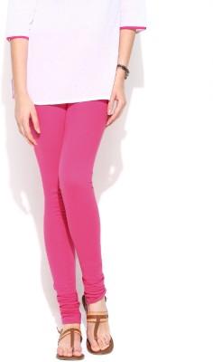 Cotton Lycra Women's Pink Leggings