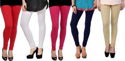 Elevate Women Women's Red, White, Pink, Purple, Beige Leggings