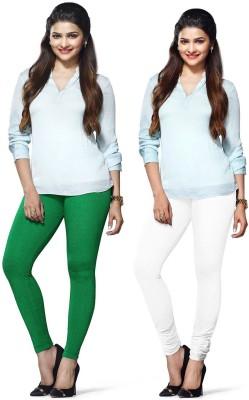 Amul Florio Women's White, Green Leggings