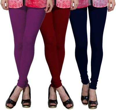 Both11 Women's Purple, Maroon, Dark Blue Leggings