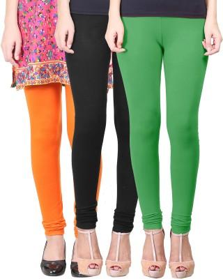 Eshelle Women's Black, Light Green, Orange Leggings
