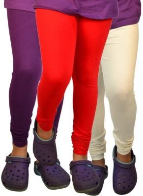 divine creations Women's Purple, Orange, White Leggings