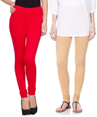Sampoorna Collection Women's Red, Beige Leggings
