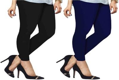 ambey shree trendz Women,s Black, Blue Leggings