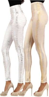indian street fashion Women's Silver, Gold Leggings