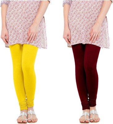 Oh Fish Women's Yellow, Maroon Leggings
