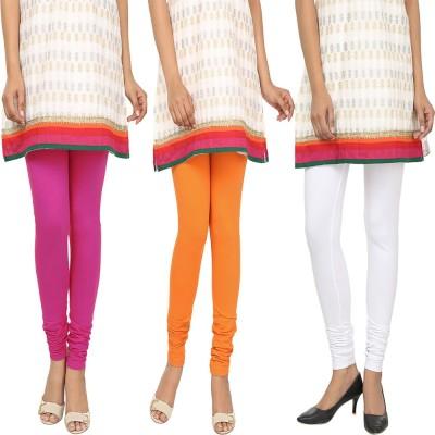 Agrima Fashion Women's Pink, Orange, White Leggings