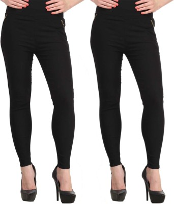 Atharv Collections Women's Black Jeggings