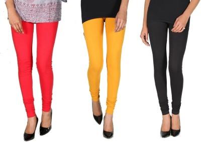 Ally Of Focker Women's Red, Black, Yellow Leggings