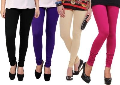 Dharamanjali Women's Black, Pink, Purple, Beige Leggings