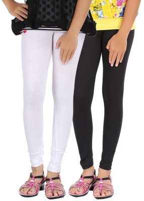 Shikha Women's White, Black Leggings