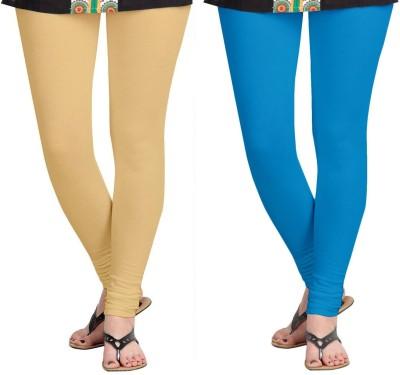 ZACHARIAS Women's Beige, Light Blue Leggings