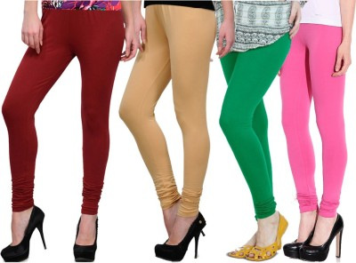 NGT Women's Maroon, Beige, Green, Pink Leggings