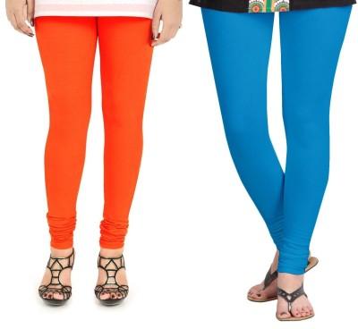 ZACHARIAS Women's Orange, Light Blue Leggings