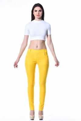 TAB91 Women's Yellow Jeggings