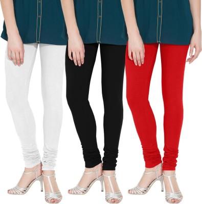 Nicewear Women's White, Black, Red Leggings