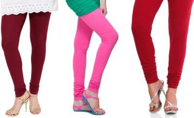 Lienz Women's Maroon, Pink, Red Leggings
