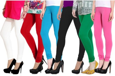 NGT Women's White, Red, Light Blue, Black, Green, Pink Leggings