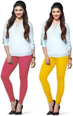 Amul Florio Women's Pink, Yellow Leggings