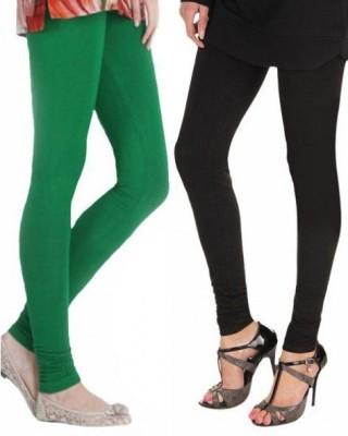 StyleJunction Women,s Black, Green Leggings