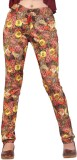 Inddus Women's Brown Jeggings