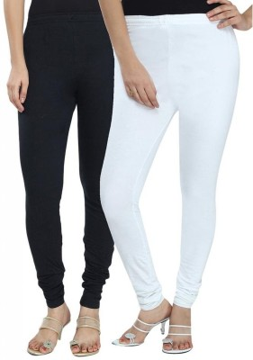 NE Women's Black, White Leggings