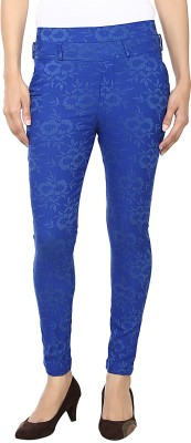 Purple Feather Women's Blue Jeggings